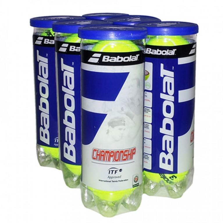 Bola Babolat Championship - Pack c/ 6 tubos