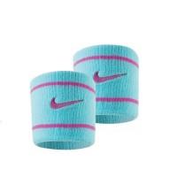 Munhequeira Nike Dry-Fit Curta New - 2 unid - celeste / rosa