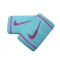 Munhequeira Nike Dry-Fit Dupla New - 2 unid - celeste / rosa