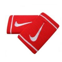 Munhequeira Nike Dry-Fit Dupla New - 2 unid - vermelha / branca
