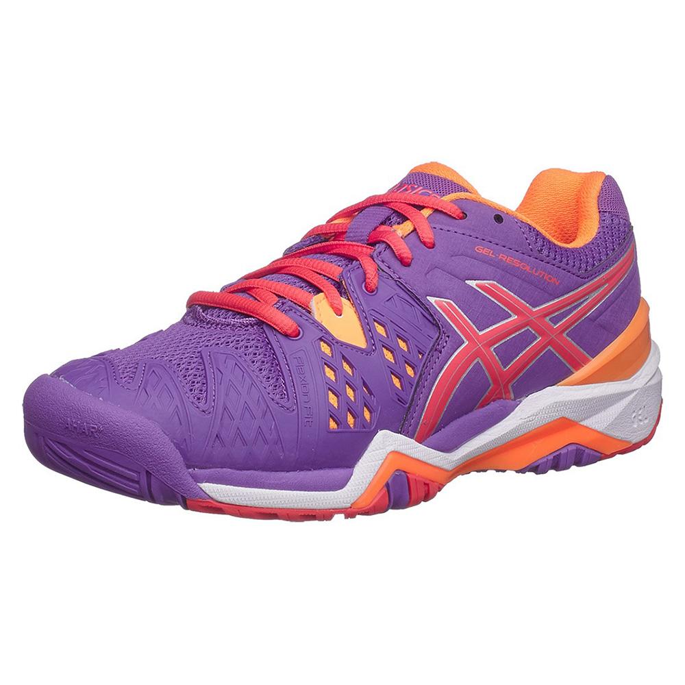 59f30ea45f Tênis Asics Gel Resolution 6 - lilas   vermelho   laranja - Feminino