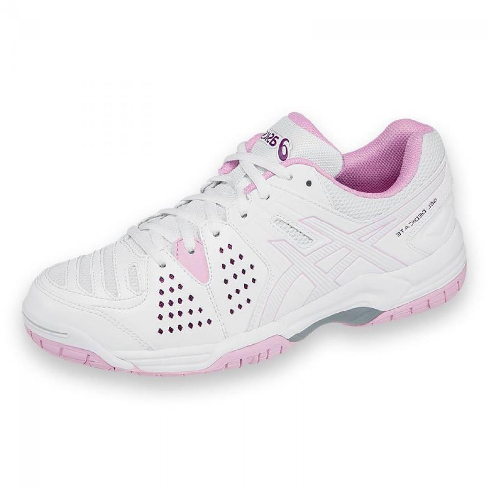 544d53d2b0 Tênis Asics Gel Dedicate 4 - branco   rosa