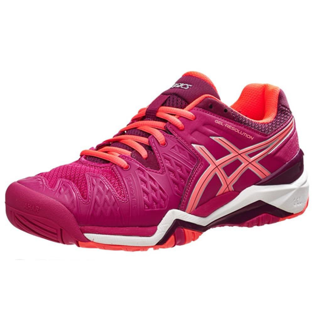 ee25dc31b5 Tênis Asics Gel Resolution 6 - pink   laranja - Feminino