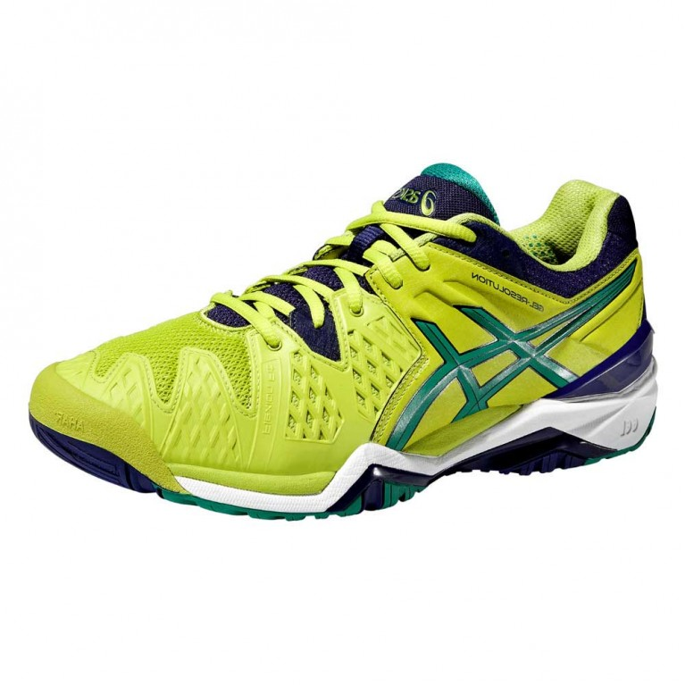 Tênis Asics Gel Resolution 6 - verde fluo / verde escuro